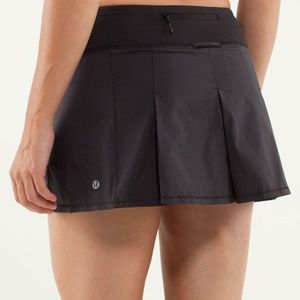 Lululemon Fast Cat Black Skirt